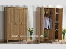 China Durable Bedroom 3 Doors Wood Wardrobe Closet