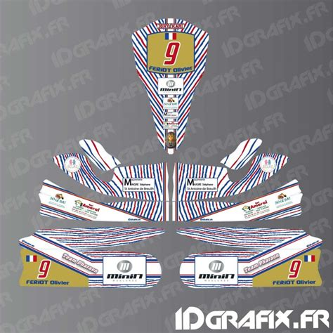 kit deco karting perso kit deco 100 custom for karting tony kart m4 idgrafix