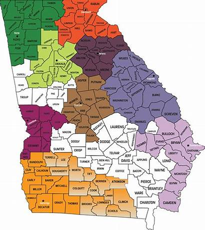 Georgia Map Counties Many Center Independent Living
