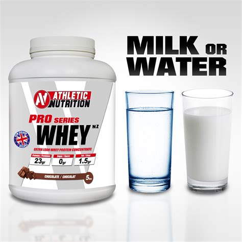 Protein with milk or water ? - Athletic Nutrition