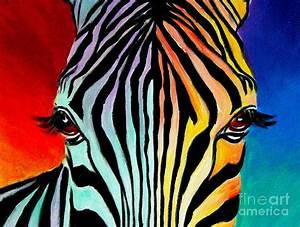 Zebra - End Of The Rainbow by Alicia VanNoy Call