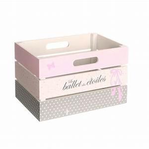 Recyclage Petite Cagette : cagette de rangement en bois petite princess 29 x 20 x h 18 cm kids decorative boxes box ~ Nature-et-papiers.com Idées de Décoration