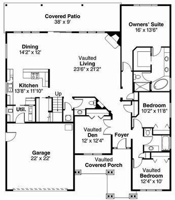 craftsman house plan    bedroom  sq ft home plan craftsman style house plans