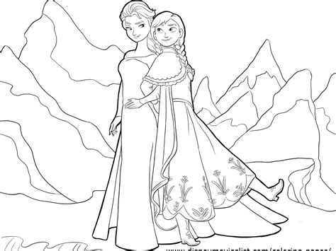 Coloring Elsa And by Coloring Pages And Elsa Only Coloring Pages