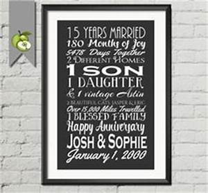 15 year anniversary present fifteen year wedding With 15th wedding anniversary gift ideas