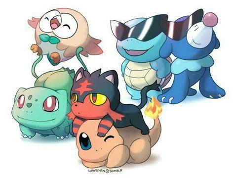 Starter Pokémon, Bulbasaur, Rowlet, Charmander, Litten