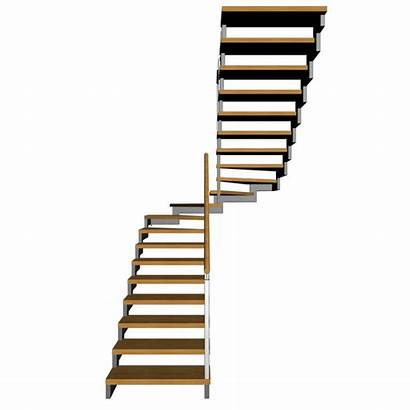 Stairs Clipart Stair Basement Landing Half Staircase