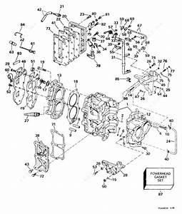 Johnson 1999 25 - Bj25eleed  Cylinder  U0026 Crankcase