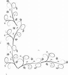 Swirly Leaf Border Clip Art at Clker.com - vector clip art ...