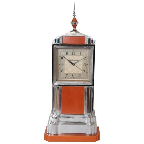 machine age deco manning bowman skyscraper clock complete for sale at 1stdibs