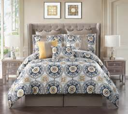 12 piece queen aramaic mustard gray bed in a bag w 500tc cotton sheet set ebay