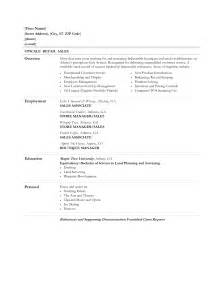 Resume Objective For A Sales Associate by Sales Resume Retail Sales Resume Exles Retail Sales