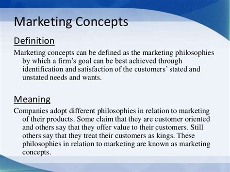 Explain Marketing by Marketing Concepts Production Social Exchange Selling