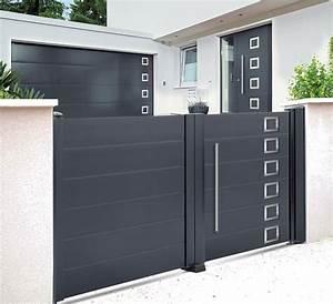 Portail Sur Mesure : portail battant en aluminium sur mesure lyon storema ~ Melissatoandfro.com Idées de Décoration