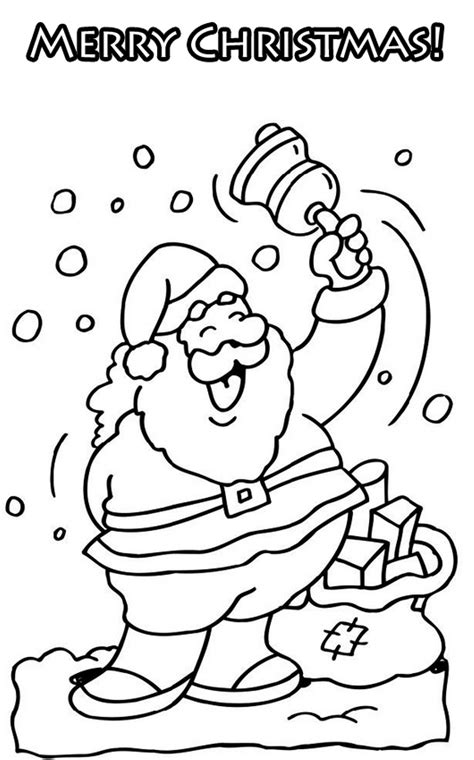 happy christmas coloring pages   print