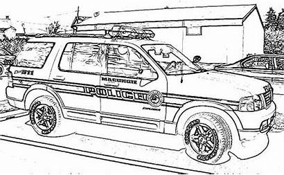 Coloring Swat Policia Police Cars Carros Dodge