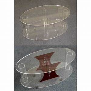 acrylic oval coffee tables With oval acrylic coffee table