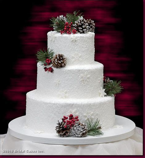Awesome Winter Wedding Cakes Best Photos Christmas