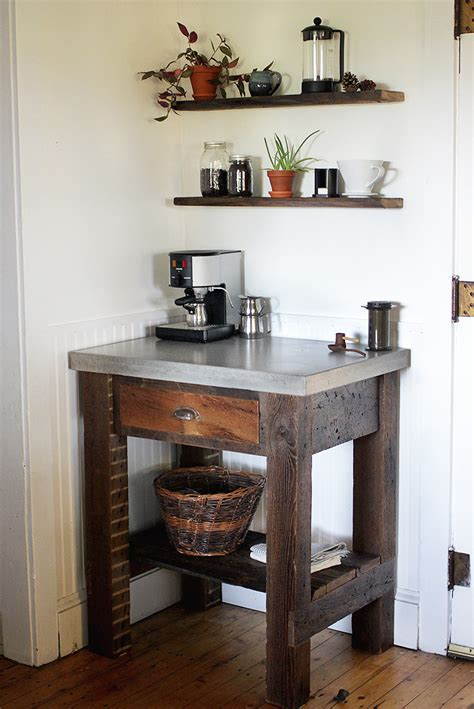 Kitchen Organization Ideas Small Spaces - diy concrete top coffee bar the merrythought