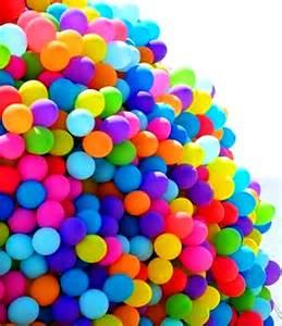 Rainbow Balloon Bunches