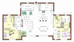 Plan Maison 4 Chambres Avec Suite Parentale : plan de maison 4 chambres plain pied avec suite parental id es de travaux ~ Melissatoandfro.com Idées de Décoration