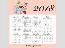 CALENDÁRIO 2018 PARA IMPRIMIR VÁRIOS PERSONAGENS