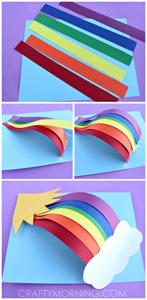 3d Paper Rainbow Kids Craft  Crafty Morning
