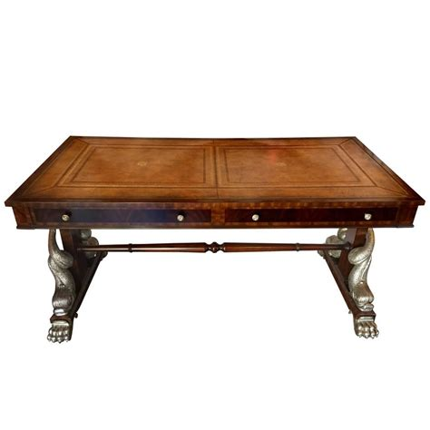 Maitland Smith Writing Desk by Maitland Smith Dolphin Leg Desk At 1stdibs