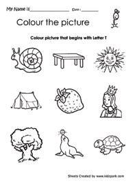 phonics worksheets the letter quot t quot google search