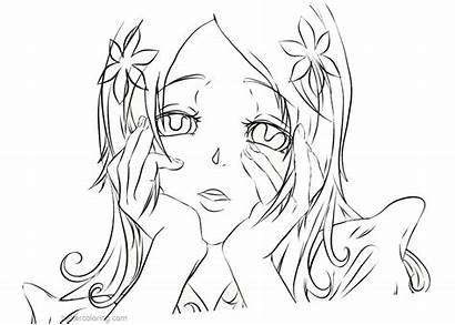 Yandere Pages Simulator Fan Coloring Orihime Printable