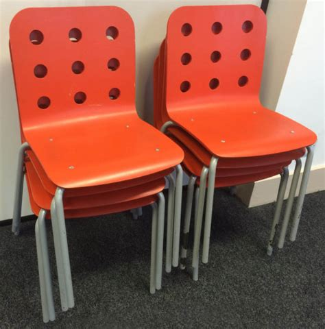 orange ikea jules chairs x 8 snille chair x 1 for sale in
