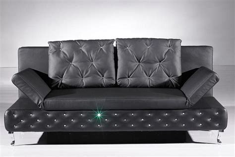 canapé lit chesterfield canape convertible chesterfield en simili cuir noir strass
