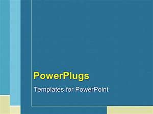 powerpoint template plain blue tan and white line With powerplugs templates for powerpoint