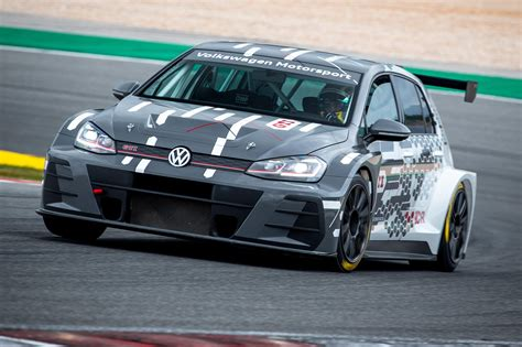 vw golf gti tcr  racing car review crazy golf car