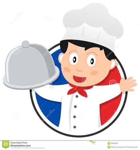 chef cuisine francais logo français de chef de cuisine illustration de vecteur
