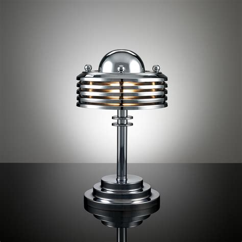 silver deco table l lighting