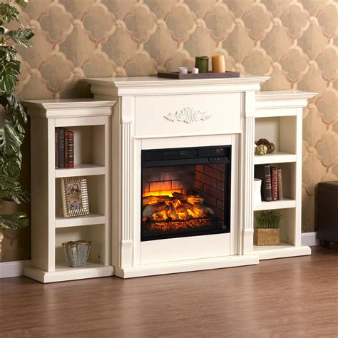 Matching Bookshelves by Greenfield 70 25 In W Infrared Electric Fireplace With