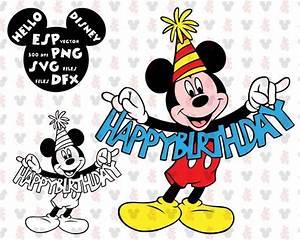 Happy Birthday Mickey Mouse : disney svg mickey mouse happy birthday clipart disney cut ~ Buech-reservation.com Haus und Dekorationen