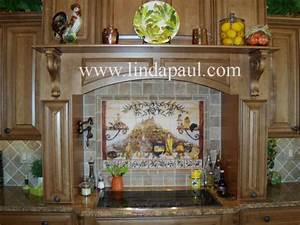 kitchen backsplash murals ideas linda paul studio on With kitchen cabinets lowes with fleur de lis wall art