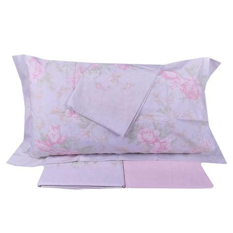 set lenzuola matrimoniale  piazze gabel harmony rosa floreale  percalle
