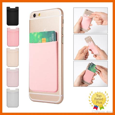 Universal mobile phone card pocket cases and covers. Lycra Mobile Phone Wallet Credit ID Card Holder Pocket Adhesive Sticker For IPhone 5 6 6s 7 Plus ...
