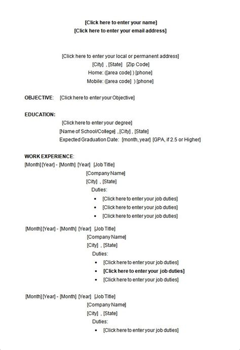 resume template for microsoft word health symptoms and