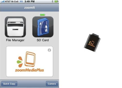 iphone sd card zoomit an sd card reader for iphone