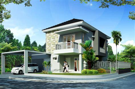 contoh desain rumah minimalis  lantai hook gambar rumah