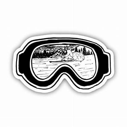 Ski Sticker Stickers Goggles