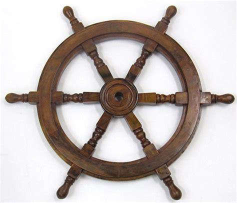 sailboat wheel wall decor ship s steering wheel 24 quot wooden hub nautical pirate boat