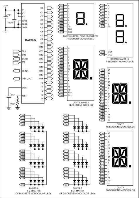 max6954 7 14 16 segment led display driver elecena pl wyszukiwarka element 243 w elektronicznych