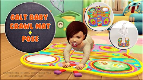 Calt baby crawl mat   Pose at Victor Miguel » Sims 4 Updates