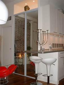 Bar D Appartement : coin bar dans un petit appartement esprit loft journal du loft ~ Teatrodelosmanantiales.com Idées de Décoration
