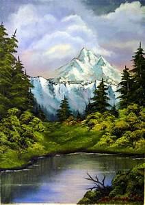 Bilder Bäume Gemalt : see in den bergen landschaft baum berge malerei von marzinkowski bei kunstnet ~ Orissabook.com Haus und Dekorationen